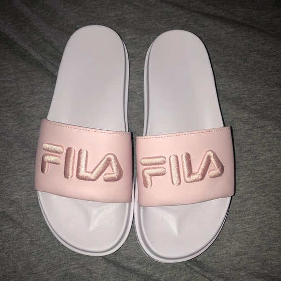 womens FILA slides